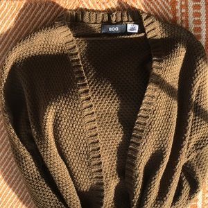 Olive Green Small BDG Cardigan